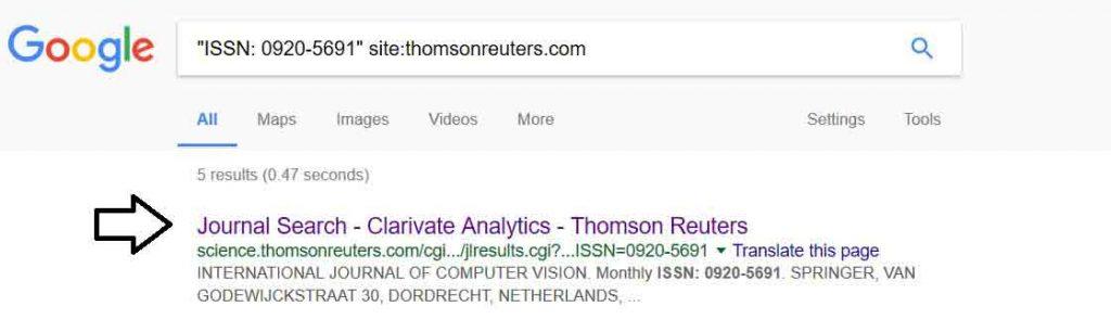 استفاده از گوگل برای تشخیص ISI بودن مجله